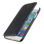 *SALE* Genuine Cowhide Leather Face Cover Book Type Wallet with Card Slot for iPhone 6 / 6S - Black
