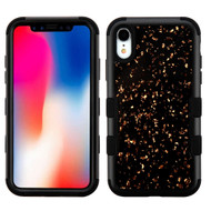 Military Grade Certified TUFF Hybrid Armor Case for iPhone XR - Flakes Black