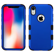 Military Grade Certified TUFF Hybrid Armor Case for iPhone XR - Blue 005