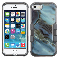 Military Grade Certified TUFF Image Hybrid Case for iPhone SE / 5S / 5 - Marble Blue
