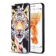 Art Pop Series 3D Embossed Printing Hybrid Case for iPhone 8 Plus / 7 Plus - Tiger