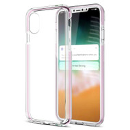 Crystal Clear TPU Case with Bumper Support for iPhone XR - Pink
