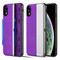 Kard Series Dual Hybrid Case with Card Slot and Magnetic Kickstand for iPhone XR - Purple Silver