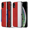 Kard Series Dual Hybrid Case with Card Slot and Magnetic Kickstand for iPhone XR - Red Silver