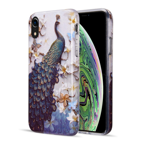 Artistry Collection Glitter TPU Case for iPhone XR - Peacock