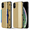 Kard Series Dual Hybrid Case with Card Slot and Magnetic Kickstand for iPhone XS / X - Gold