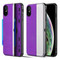 Kard Series Dual Hybrid Case with Card Slot and Magnetic Kickstand for iPhone XS / X - Purple Silver