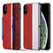 Kard Series Dual Hybrid Case with Card Slot and Magnetic Kickstand for iPhone XS / X - Red Silver