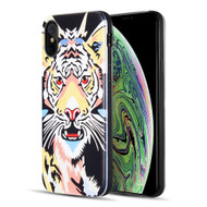 Art Pop Series 3D Embossed Printing Hybrid Case for iPhone XS Max - Tiger