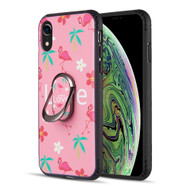 FunShield Series Ring Case for iPhone XR - Flamingo Love
