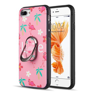 FunShield Series Ring Case for iPhone 8 Plus / 7 Plus / 6S Plus / 6 Plus - Flamingo Love