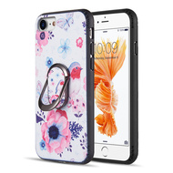 FunShield Series Ring Case for iPhone 8 / 7 / 6S / 6 - Bird and Butterfly