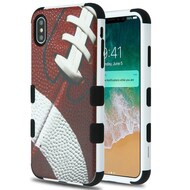 Military Grade Certified TUFF Hybrid Armor Case for iPhone XS Max - Football