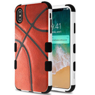 Military Grade Certified TUFF Hybrid Armor Case for iPhone XS Max - Basketball