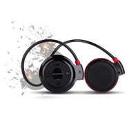 3-IN-1 Bluetooth Wireless Sporty Headphones with FM Radio and MP3 Player - Black