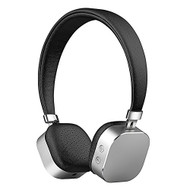 Aluminum Metal Bluetooth V4.2 Wireless On-Ear Headphones with Microphone - Silver