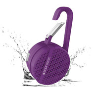 Body Glove IPX4 Water Resistant Bluetooth V4.2 Wireless Speaker with Carabiner - Purple