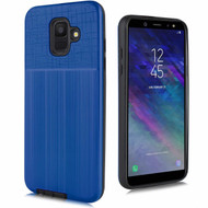 Double Texture Anti-Shock Hybrid Protection Case for Samsung Galaxy A6 (2018) - Blue