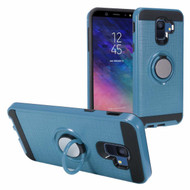 Sports Hybrid Armor Case with Smart Loop Ring Holder for Samsung Galaxy A6 (2018) - Blue