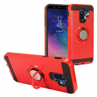Sports Hybrid Armor Case with Smart Loop Ring Holder for Samsung Galaxy A6 (2018) - Red