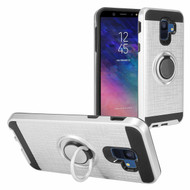 Sports Hybrid Armor Case with Smart Loop Ring Holder for Samsung Galaxy A6 (2018) - Silver