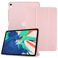 Smart Leather Hybrid Case with Translucent Back Cover for iPad Pro 11 inch - Rose Gold