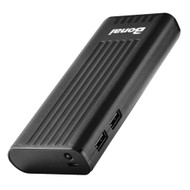 10000mAh High Capacity Intelligent Power Bank Battery Charger with Dual USB Port - Black