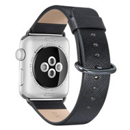 *SALE* Textured Genuine Leather Watch Band for Apple Watch 44mm / 42mm - Black