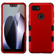 Military Grade Certified TUFF Hybrid Armor Case for Google Pixel 3 XL - Red