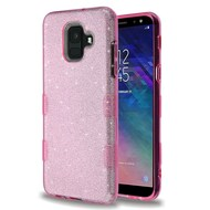 Tuff Full Glitter Hybrid Protective Case for Samsung Galaxy A6 (2018) - Pink