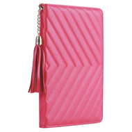 Luxury Quilted Smart Leather Stand Case with Auto Sleep / Wake for iPad Pro 9.7 inch - Hot Pink