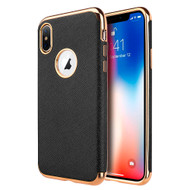 Saffiano Luxury Fusion Case for iPhone XS Max - Black