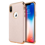 Saffiano Luxury Fusion Case for iPhone XS Max - Rose Gold