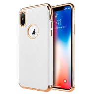 Saffiano Luxury Fusion Case for iPhone XS Max - White