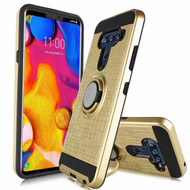 Sports Hybrid Armor Case with Smart Loop Ring Holder for LG V40 ThinQ - Gold