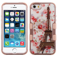 Military Grade Certified TUFF Image Hybrid Case for iPhone SE / 5S / 5 - Paris in Full Bloom Rose Gold