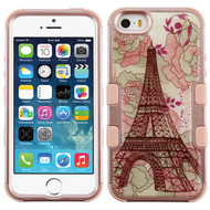 Military Grade Certified TUFF Image Hybrid Case for iPhone SE / 5S / 5 - Eiffel Tower Rose Gold
