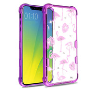TUFF Klarity Electroplating Transparent Anti-Shock TPU Diamond Case for iPhone XR - Flamingo Land