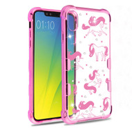 TUFF Klarity Electroplating Transparent Anti-Shock TPU Diamond Case for iPhone XR - Unicorn Magic