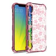 TUFF Klarity Electroplating Transparent Anti-Shock TPU Case for iPhone XR - Hibiscus Flower