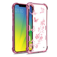 TUFF Klarity Electroplating Transparent Anti-Shock TPU Case for iPhone XR - Butterflies in Spring