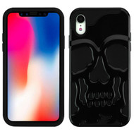 Military Grade Certified Skullcap Hybrid Case for iPhone XR - Black