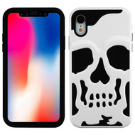 Military Grade Certified Skullcap Hybrid Case for iPhone XR - White