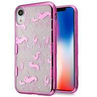 Tuff Lite Quicksand Electroplating Case for iPhone XR - Unicorn Magic
