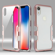 TUFF Panoview Transparent Hybrid Case for iPhone XR - Rose Gold