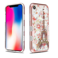 TUFF Panoview Diamond Transparent Hybrid Case for iPhone XR - Paris in Full Bloom
