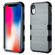 Military Grade Certified Brushed TUFF Hybrid Case for iPhone XR - Slate Blue