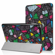 Premium Smart Leather Hybrid Case and Screen Protector for iPad (2018/2017) / iPad Air - Stained Glass