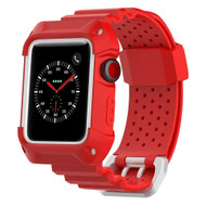 *SALE* Rugged Protective Case with Strap Band for Apple Watch 38mm - Red
