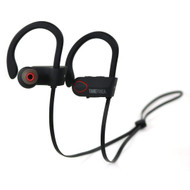 IPX7 Waterproof Bluetooth V4.1 Wireless Earhook Headphones with Microphone - Black